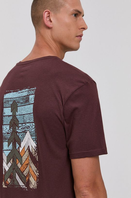 kasztanowy Columbia - T-shirt Męski