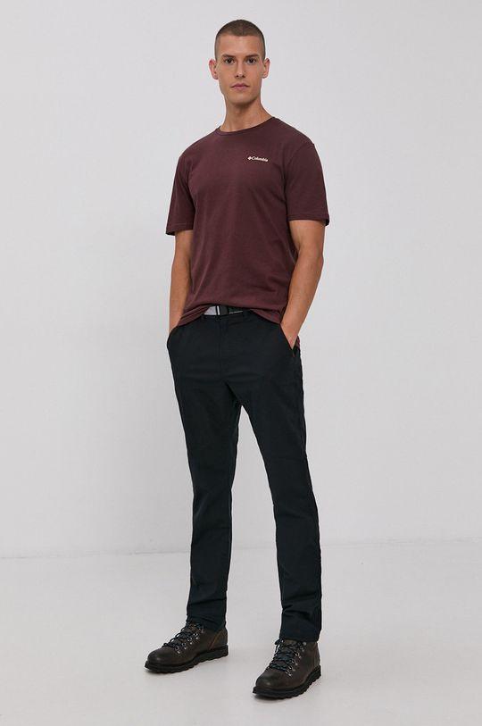 Columbia - T-shirt kasztanowy