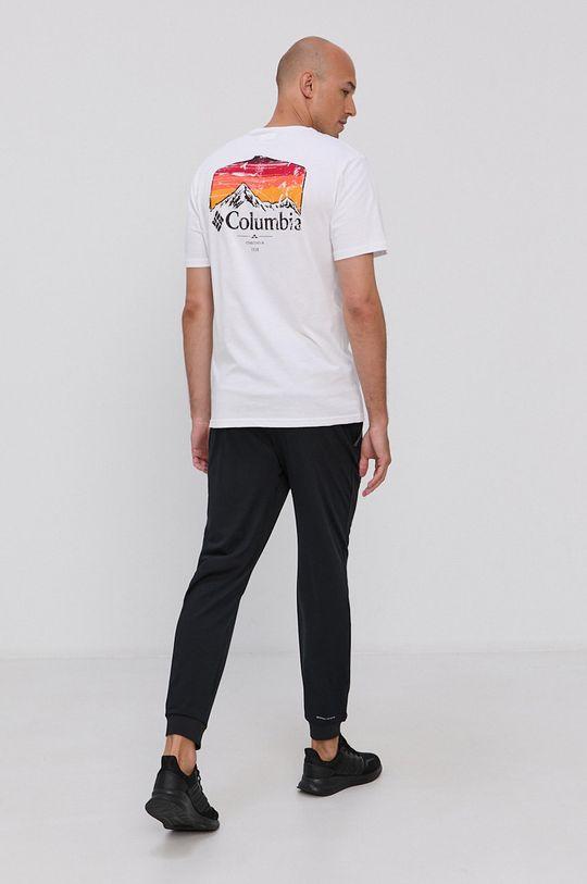 biały Columbia - T-shirt bawełniany Męski