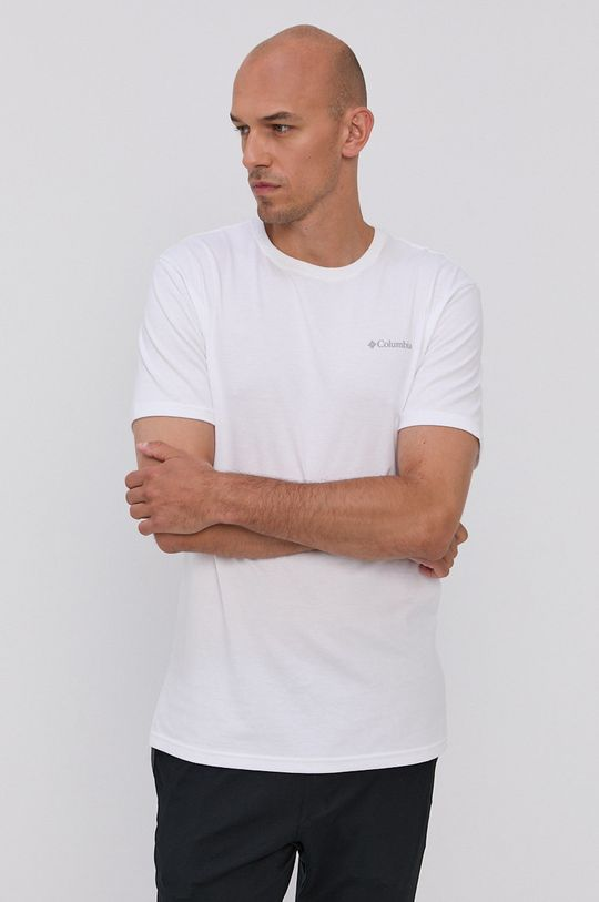 Columbia - T-shirt bawełniany biały