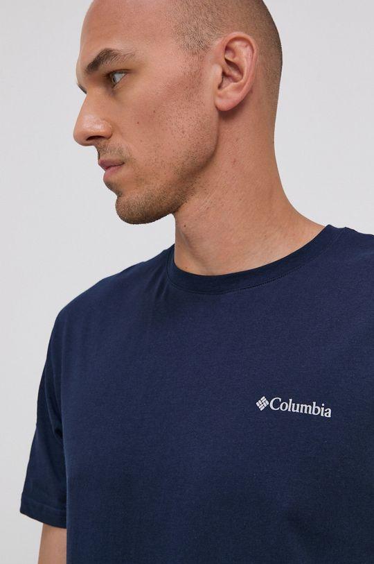 granatowy Columbia - T-shirt bawełniany