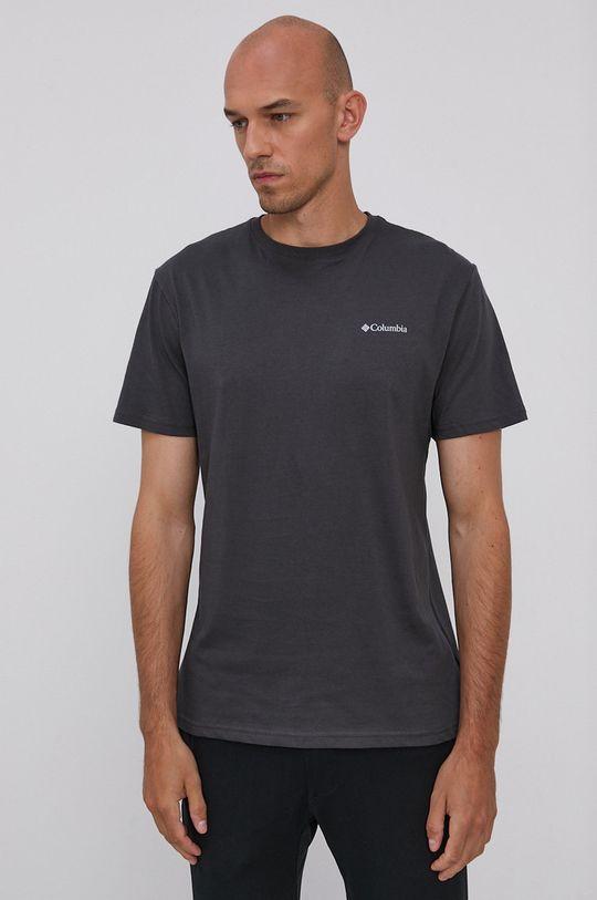 grafitowy Columbia - T-shirt bawełniany Męski