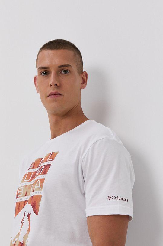 biały Columbia - T-shirt bawełniany