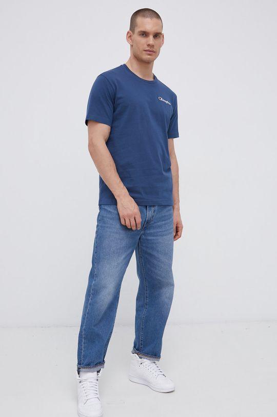 Champion - Tricou din bumbac albastru