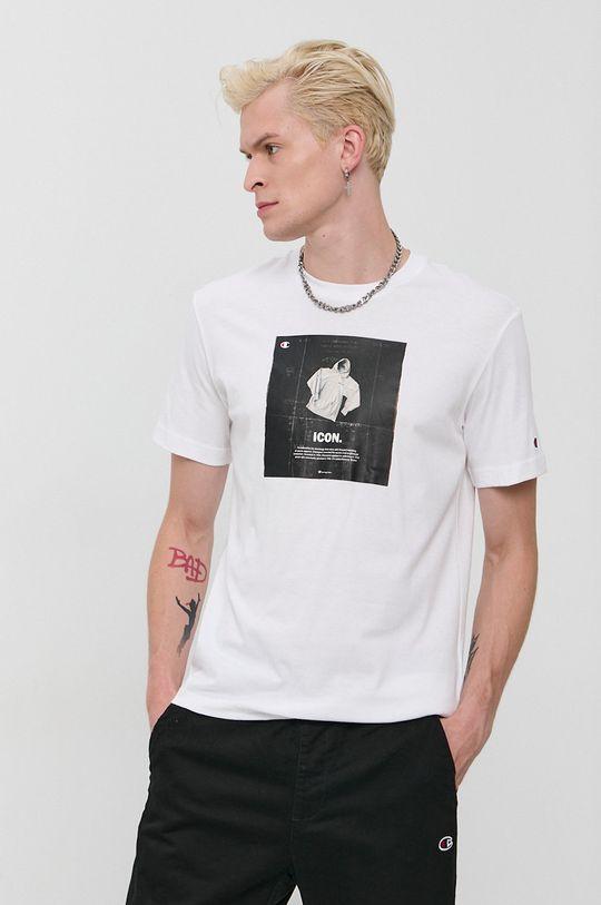 biela Champion - Bavlnené tričko Pánsky