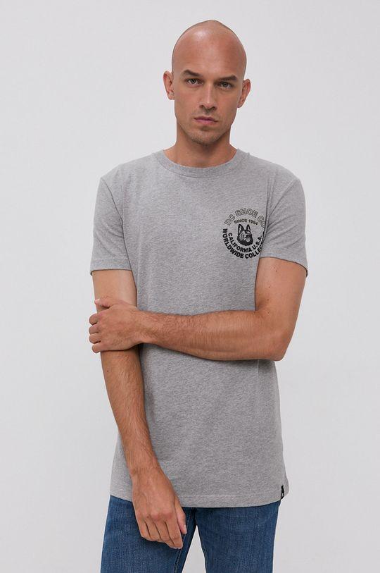jasny szary Dc - T-shirt bawełniany Męski