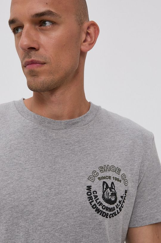 jasny szary Dc - T-shirt bawełniany