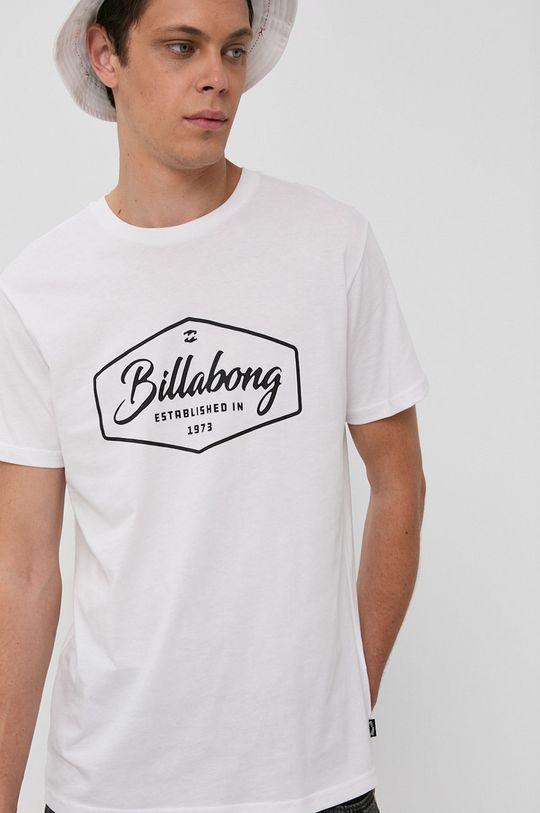 biela Billabong - Bavlnené tričko Pánsky
