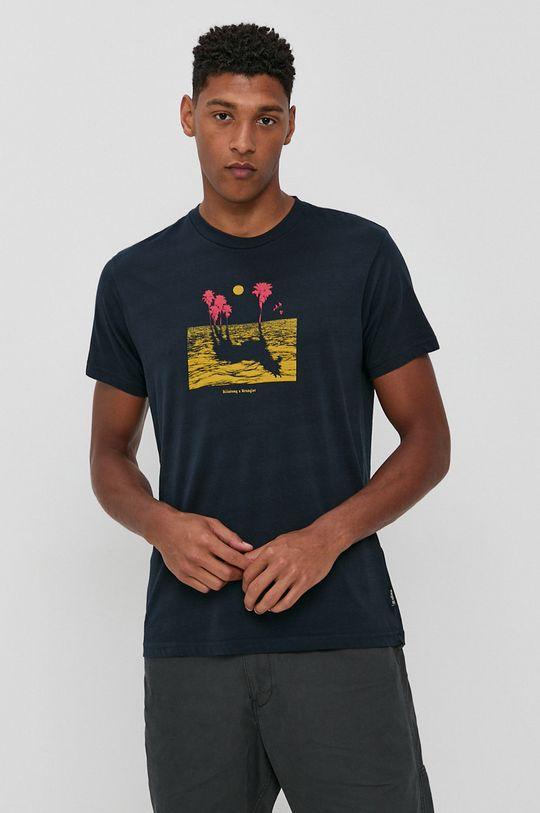 tmavomodrá Billabong - Bavlnené tričko x Wrangler Pánsky