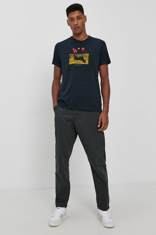 Billabong - Bavlnené tričko x Wrangler tmavomodrá