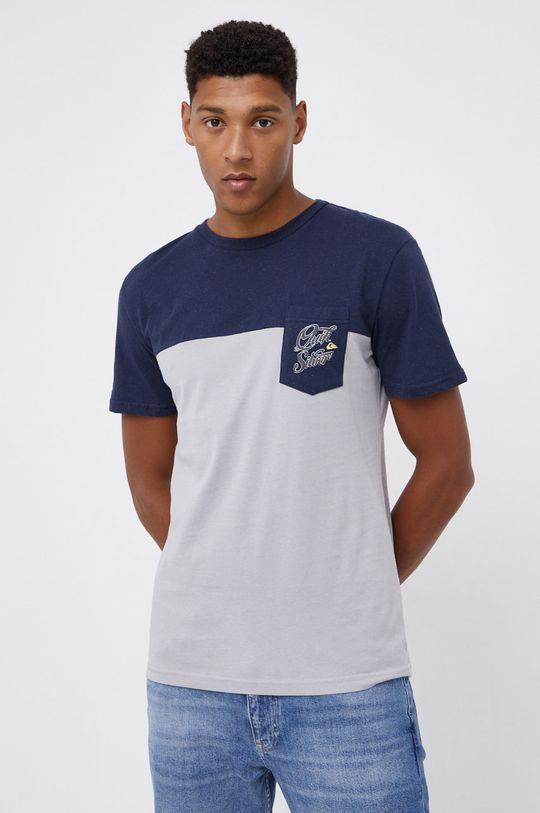 jasny szary Quiksilver - T-shirt Męski
