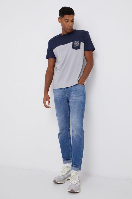 Quiksilver - T-shirt jasny szary