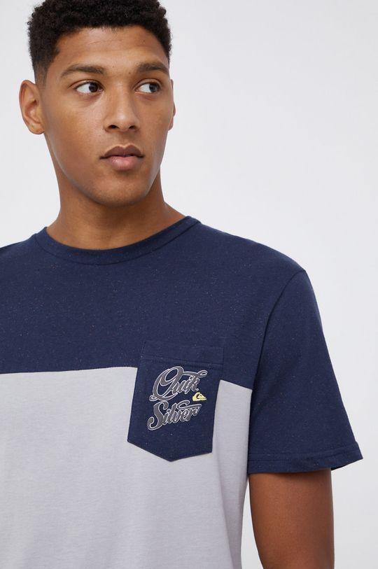 jasny szary Quiksilver - T-shirt