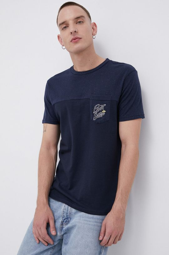 granatowy Quiksilver - T-shirt Męski