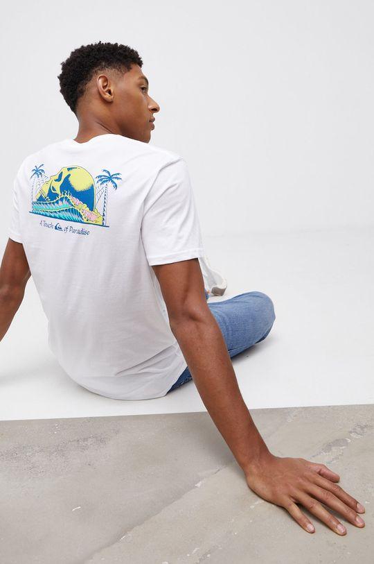biały Quiksilver - T-shirt bawełniany Męski
