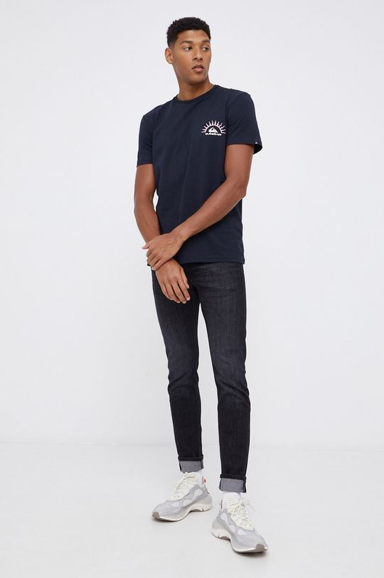 Quiksilver - T-shirt bawełniany czarny
