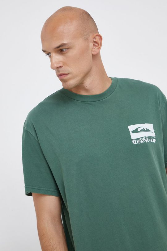 zelená Quiksilver - Bavlněné tričko
