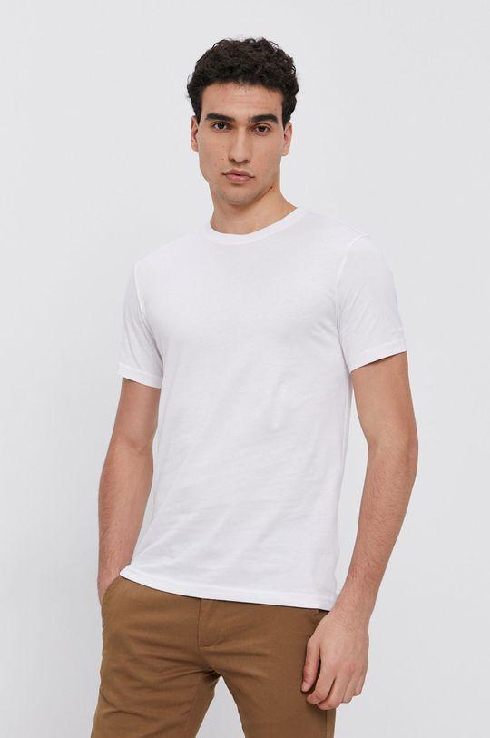 biały Karl Lagerfeld - T-shirt bawełniany (2-pack) Męski