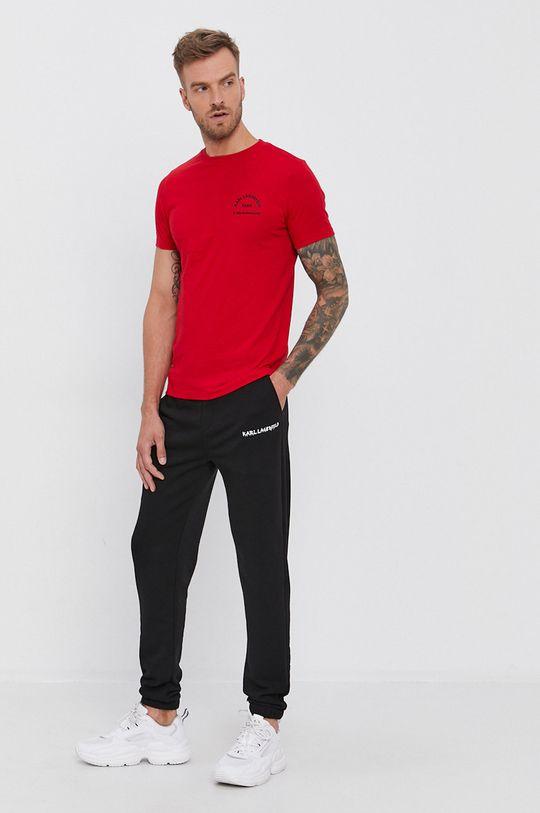 Karl Lagerfeld - Bavlnené tričko červená