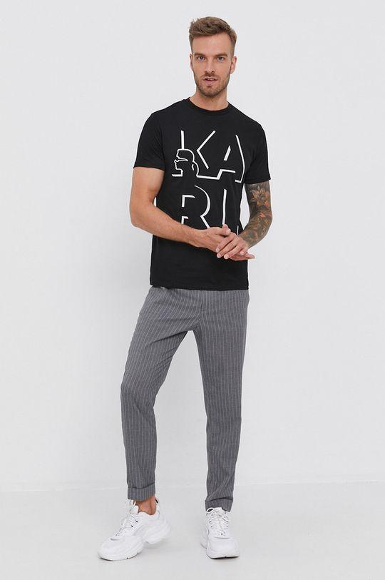 Karl Lagerfeld - T-shirt bawełniany czarny