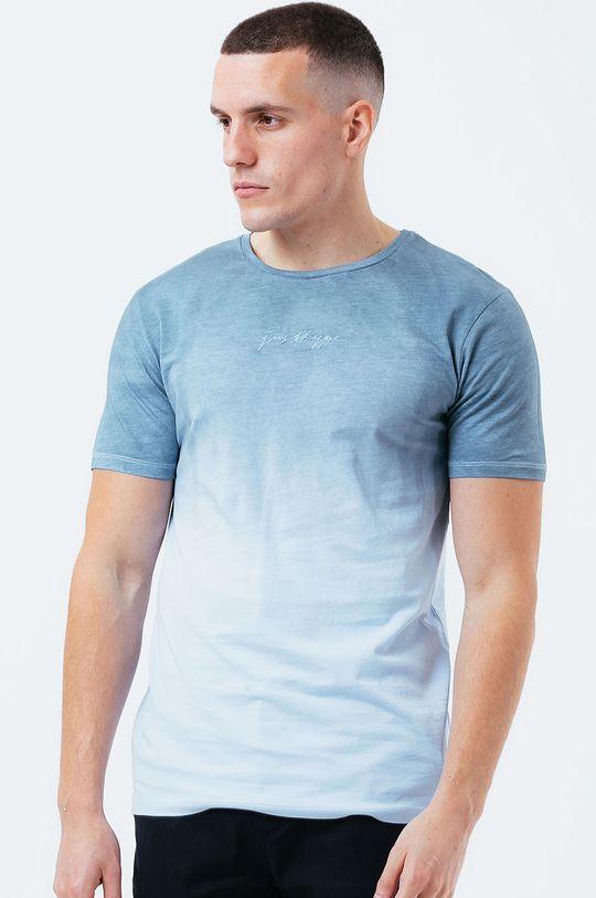 světle modrá Hype - Bavlněné tričko BLUE DIP DYE Pánský