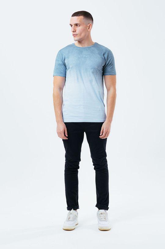 Hype - Bavlněné tričko BLUE DIP DYE světle modrá