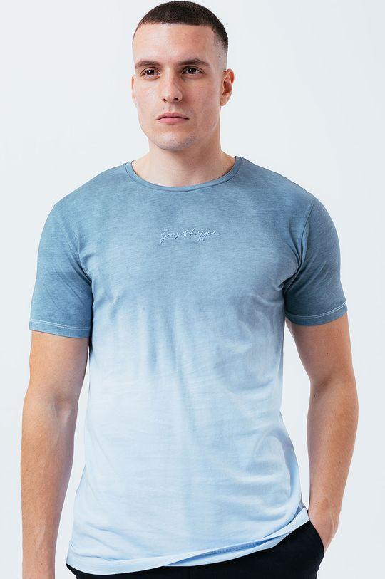 světle modrá Hype - Bavlněné tričko BLUE DIP DYE
