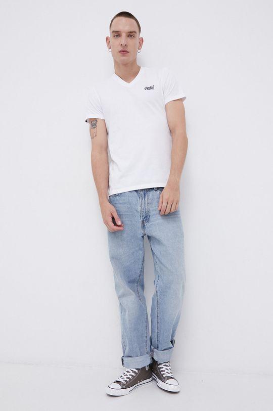 Superdry - T-shirt bawełniany biały