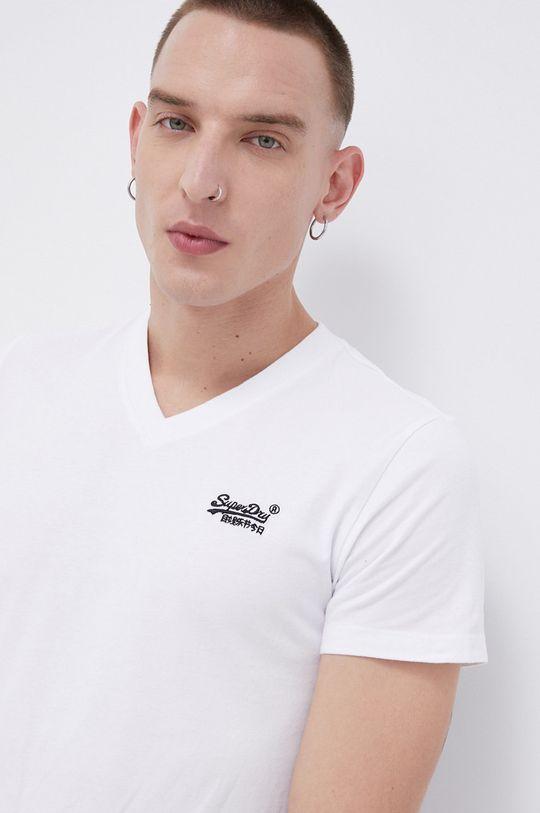 biały Superdry - T-shirt bawełniany