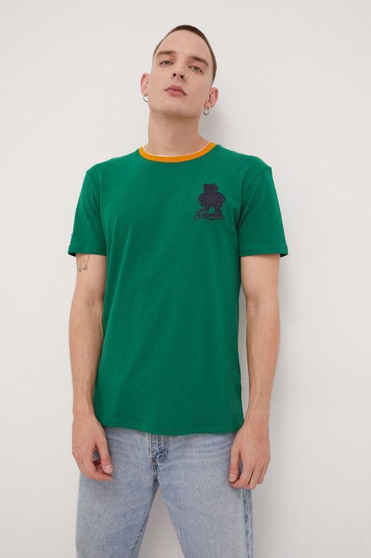 zielony Superdry - T-shirt bawełniany Męski