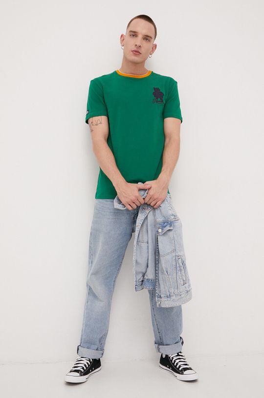 Superdry - T-shirt bawełniany zielony