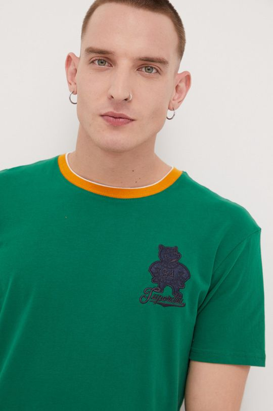 zielony Superdry - T-shirt bawełniany