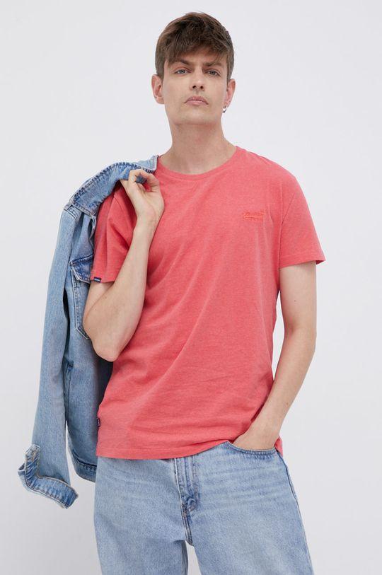 červená Superdry - Bavlněné tričko Pánský