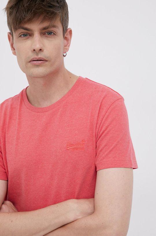 červená Superdry - Bavlněné tričko