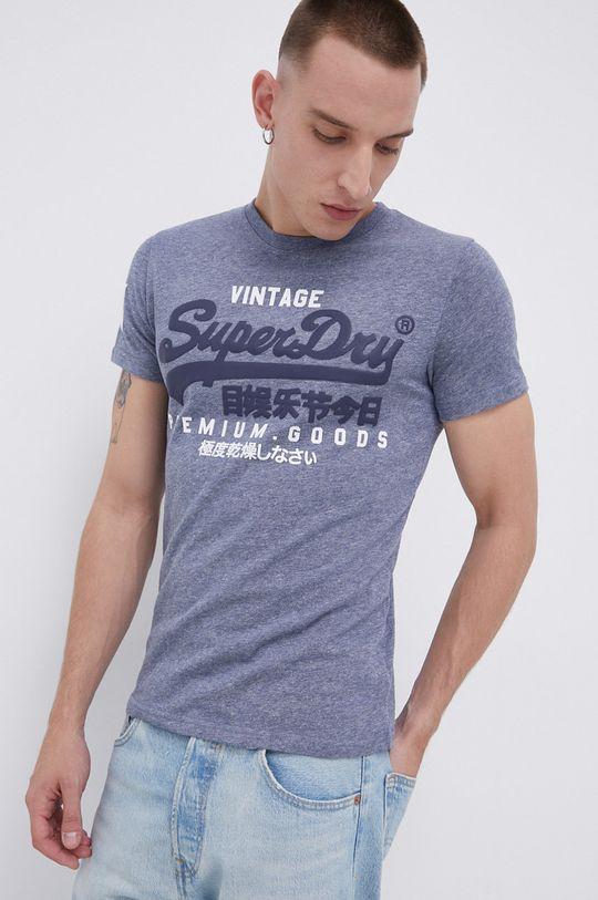 fioletowy Superdry - T-shirt Męski