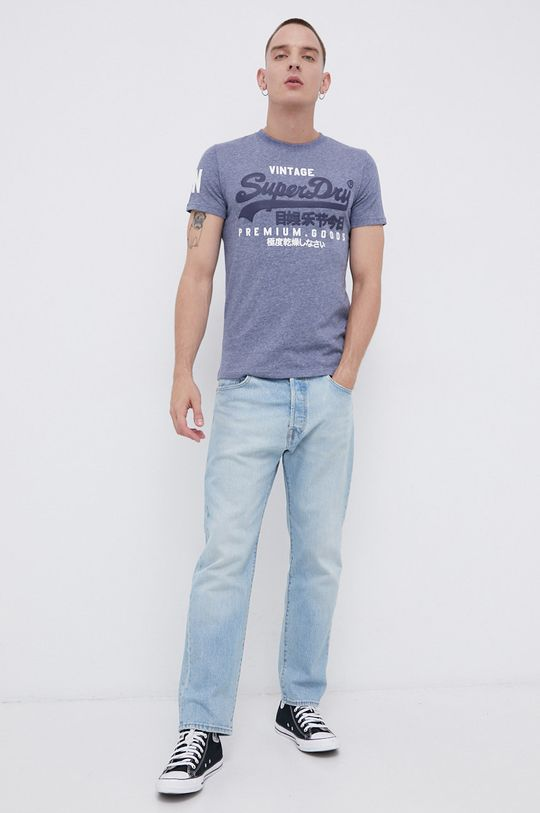 Superdry - T-shirt fioletowy