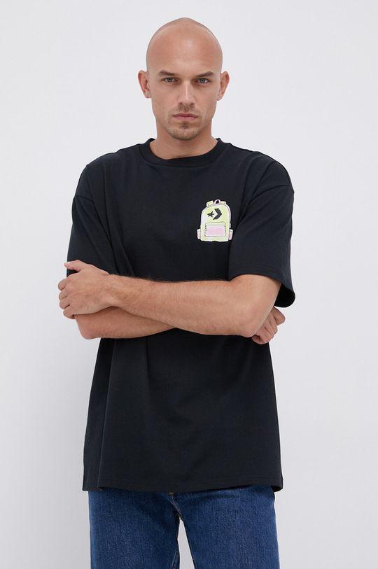 Converse - Bavlněné tričko černá