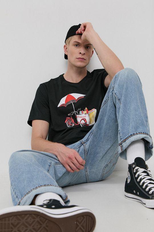 negru Converse - Tricou din bumbac De bărbați
