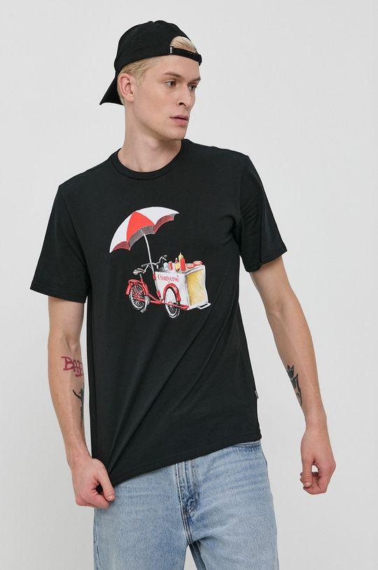 Converse - Tricou din bumbac negru