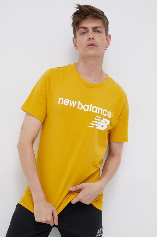 żółty New Balance - T-shirt Męski