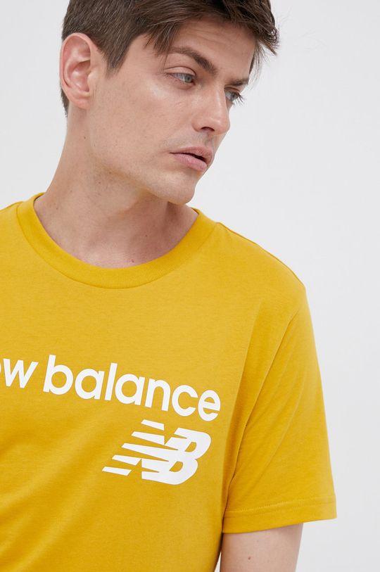 żółty New Balance - T-shirt