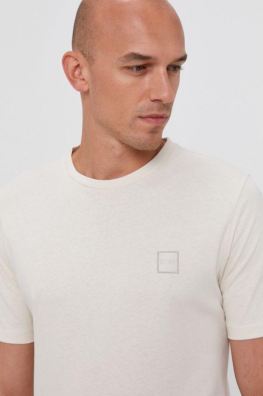 krémová Boss - Bavlnené tričko Boss Casual
