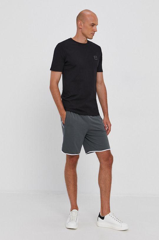 Boss - Bavlněné tričko Boss Casual černá