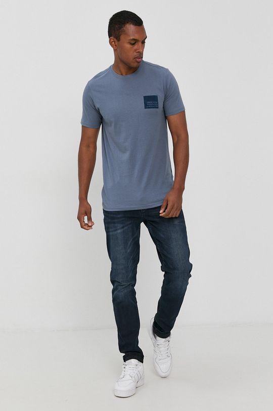 fialová !SOLID - Bavlnené tričko Pánsky