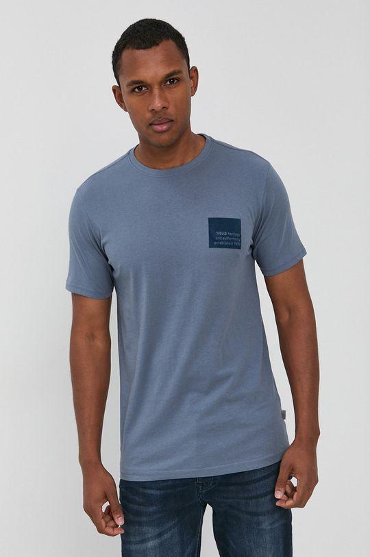 !SOLID - Bavlnené tričko fialová