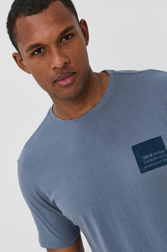 fialová !SOLID - Bavlnené tričko