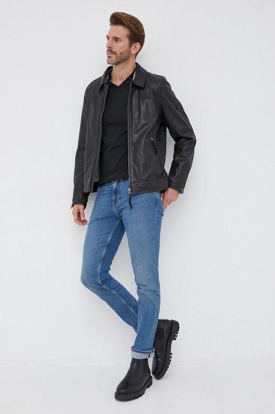 Gant - T-shirt bawełniany czarny