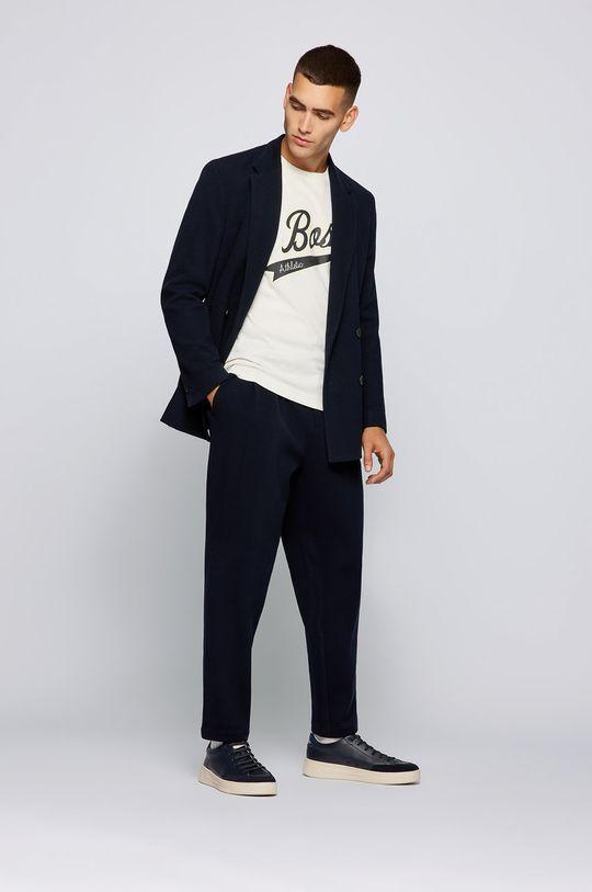 Boss - T-shirt bawełniany Boss x Russell Athletic kremowy