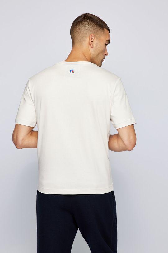 Boss - T-shirt bawełniany Boss x Russell Athletic 100 % Bawełna