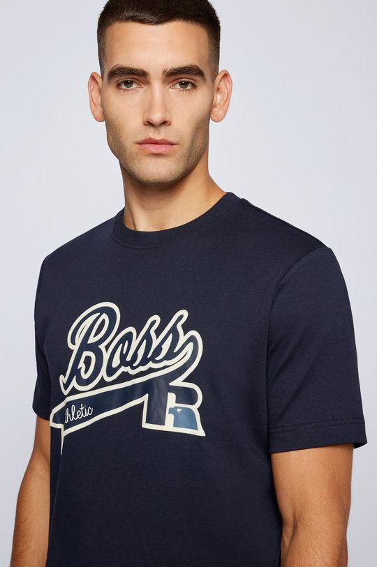 granatowy Boss - T-shirt bawełniany Boss x Russell Athletic
